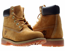 Timberland 6-Inch Premium Waterproof Wheat Nubuck Junior Kids Boots 12909