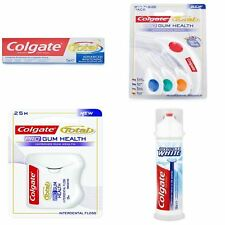 Colgate Total | Pro Gum Health Floss/Brushes Fluoride Whitening Toothpaste |