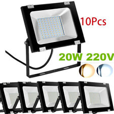 10Pcs 20W LED Flood Light Outdoor Garden Landscape Wall Spot Lamp Waterproof