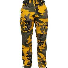 Yellow Camouflage - Military BDU Pants - Polyester Cotton Twill