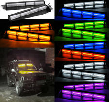 COB LED Emergency Strobe Light Bar Hazard Warning Police Car Visor Dash Lamp 32W