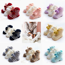 3 Pairs Winter Warmer Baby Boys Girls Coral Velvet Non-slip Breathable Socks