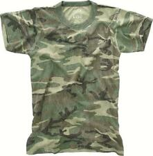 Woodland Camouflage - Kids Military Vintage T-Shirt