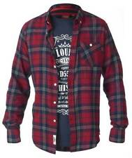 Mens Big Size Duke D555 Red Flannel Check Shirt and/or Tee Shirt Combo 7XL 8XL