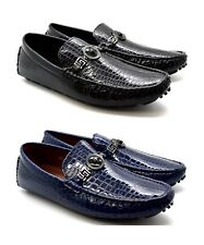 New Mens Patent Croc Buckle Smart Casual Loafer Mocassin Shoes Uk Size 6-11