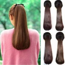 Long Straight Curly Ponytail Clip-in Wrap On Hair Extensions Hairpiece Woman C17
