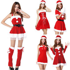 Mrs Miss Santa Claus Fancy Dress Costume Christmas Adult Sexy Women Party Outfit