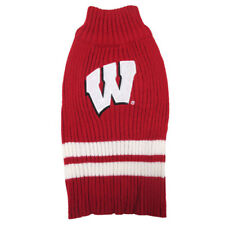 WISCONSIN BADGERS NCAA Dog Pet Sweater shirt (all sizes)