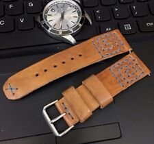 Vintage Italian Genuine Suede Leather Watch Strap H/Made 18 19 20 21 22mm, Black