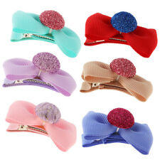 5Pcs Colorful Baby Girl Hair Clip Bows Cap Alligator Clips Barrettes 7Colors