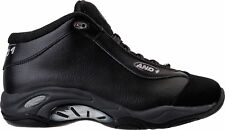 Men's AND1 Tai Chi Mid Leather Basketball Shoes Triple Black D1055M BBB