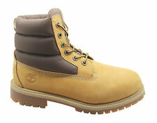 Timberland 6 Inch Kids Quilt Boots Youths Juniors Wheat Brown 1770R 1790R D10
