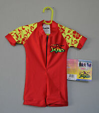 Radicool Rash Guard SPF UPF Swimwear Red Yellow Hawaiian Wetsuit - Size 0 1 2 4