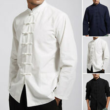 Men Vintage Chinese Tang Suit Coat clothing Kung Fu Tai Chi Uniform Traditional