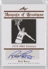 2011 Leaf Legends of Sport Moments Greatness Bronze #MG-29 Rick Barry Auto Card