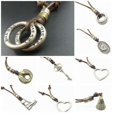 USA Style Fashion men jewelry vintage hoop leather necklace charm pendant gift