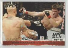 2009 Topps UFC Round 1 #90 Rory Markham vs Brodie Farber MMA Card