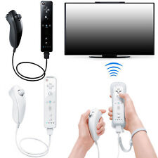 2PCS Remote + Nunchuck Controller Combo Set w/ Case and Strap for Nintendo Wii
