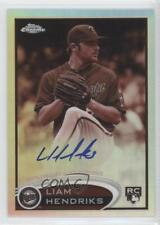 2012 Topps Chrome Rookie Autograph Sepia Refractor #154 Liam Hendriks Auto Card