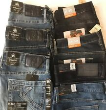 Men's New Stretch Comfort Jeans Pants 5 Pockets Zip Front- Choice Size & Color