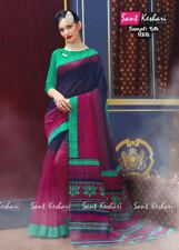 Designer Bollywood Saree Indian Ethnic Party Sari Pakistani Dress Sant Keshri-3