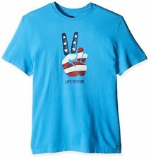 Life is good Mens Crusher Tee Peace flag - Choose SZ/Color