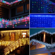 US 96-1000 LED Fairy Icicle Curtain String Lights Outdoor Indoor Xmas Party 110V