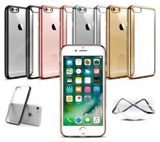 """Apple iPhone 6s Plus (5.5"""") - Clear Gel Electroplated Chrome Bumber Case"""