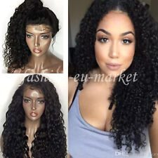 Human Hair Body Wave 100% Real Hair Brazilian Glueless Lace Front Wigs Off Black