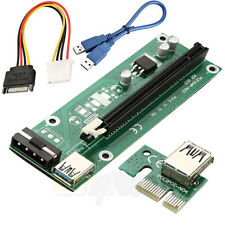 PCIE Cable Express 1x To 16x Extender Riser Card Adapter Power Bitcoin USB 3.0