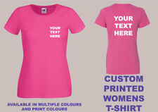 CUSTOM PRINTED WOMENS FIT T-SHIRT Personalised Hen Events Birthday Novelty Logo