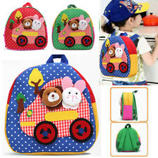 Toddler School Bags Backpack Kindergarten Schoolbag 3D Cartoon Animal Bag