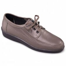 Padders REBEL Mens Leather 3 Eyelet Lace Up (F Fit) Casual Shoes Pewter Grey