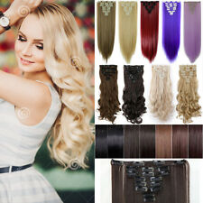 Top Secret 18 Clips Clip In Natural Hair Extensions Long As Human Hair Brown PH1