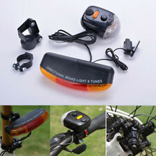 7 LED Bicycle Bike Tail Turn Signal Directional Brake Light Lamp 8 sound Horn