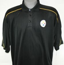 NEW Mens NFL Team Apparel Pittsburgh Steelers TX3 Black Polo Golf Style Shirt