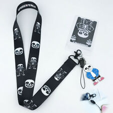Game Undertale Neck Strap Lanyard Mobile Phone Charms Keychain ID Badge+Pendant
