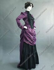 Victorian Edwardian Bustle Dress Holiday Party Gown Steampunk Riding Habit 139 L