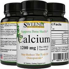 Calcium Supplement + Vitamin D3 - Bone Strength Clinical Strength Plant Calcium