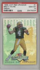 1998 Leaf Rookies & Stars Donruss Crusade Green 1 Brett Favre PSA 10 GEM MT Card