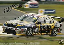 Craig Lowndes SIGNED 2005 6x4 or 8x12 photo V8 Supercars FORD BETA ELECTRICIAL