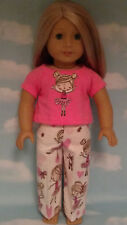 """Pajamas handmade for 18"""" American Girl Doll to fit 18 inch Doll Clothes 307a"""