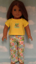 """Pajamas handmade for 18"""" American Girl Doll to fit 18 inch Doll Clothes 301a"""