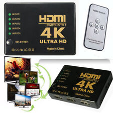5 Hdmi Port Switch Switcher Splitter Selector HUB Box Cable HDTV 1080P Xbox PS4