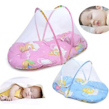 JZ_ Foldable Portable Infant Baby Mosquito Net Crib Bed Tent with Pillow Mysti