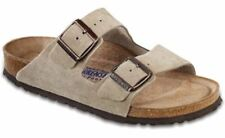 Birkenstock Women's Arizona Taupe Suede Soft Footbed Sandals Taupe 95130