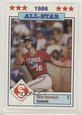 1986 Southern League All-Stars 10 Terry Steinbach Huntsville Stars Baseball Card