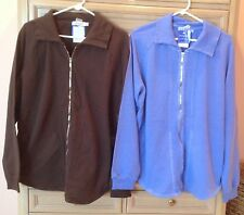 NWT FRESH PRODUCE French Terry Jacket Semi Sweet Brown M or L