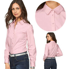 Work Office Shirts Womens New Formal Shirt Ladies Tops Blouses Long Sleeved