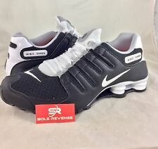 New Men Nike SHOX NZ Current Running Shoes Black White Gray pa 833579-002